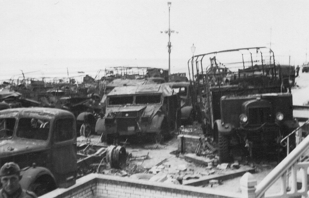 dunkirk 1940 burnt out trucks.jpg