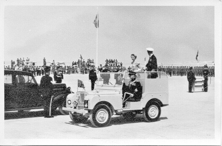 HM Queen Tobruk 1954-Rhino-Cyrene District-HQ vehicle.jpg